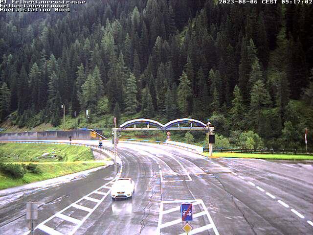 Wetter, Livebild, Livecam und Webcam Felbertauern Nordportal - 1606 Meter Seehöhe